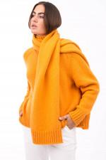 Schal aus grobem Strick in Orange