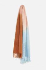 Schal mit Farbverlauf in Rost/Lachs/Hellblau