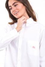 Lange Hemdbluse in Weiß