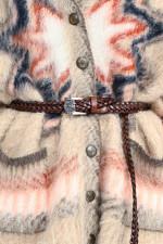 Geflochtener Ledergürtel in Coganc