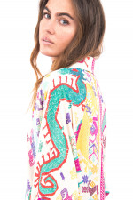 Blusenkleid im Ethno-Stil in Multicolor