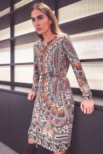 Midi-Jerseykleid mit Paisley-Print in Multicolor