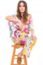 Shirt im Ethno-Stil in Multicolor
