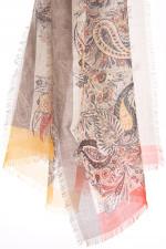 Kaschmir-Schal mit Paisley-Musterung in Brauntönen