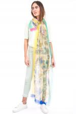 Kaschmir-Schal mit Paisley-Musterung in Multicolor