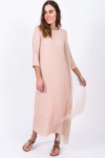 Kleid mit Plissee-Detail in Rose