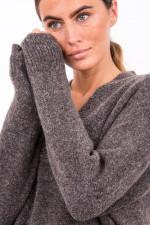 Pullover mit feinem Schlingengarn in Maroni