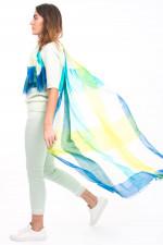 Schal QUEEN mit Karo-Design in Grün/Blau
