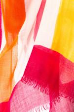 Schal QUEEN mit Karo-Design in Rot/Orange
