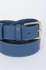 Ledergürtel zweifach gewickelt in Blau