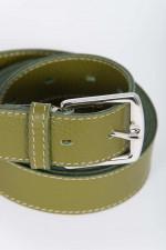Ledergürtel zweifach gewickelt in Grün