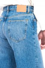 Jeans-Culotte mit Vintage-Design in Mittelblau