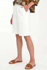 Bermuda-Culotte in Weiß