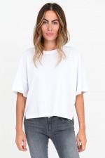 Oversized Baumwoll-Shirt in Weiß