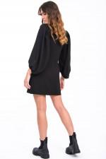 Kleid mit Puffarm in Schwarz