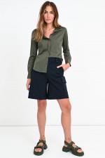 Nadelstreif Anzug-Shorts in Marine
