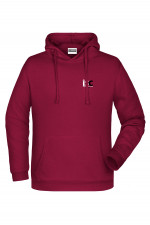 Men Hoodie in Bordeaux