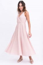 Elegantes Plisseekleid in Rose