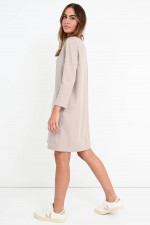 Oversized Boxy-Kleid in Creme