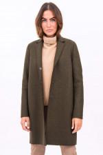 Mantel aus Schurwolle in Oliv