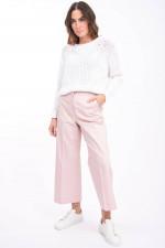 Grobstrick-Pullover in Weiß