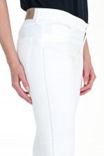 Hose mit Glitzerstreifen in Weiß