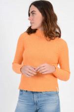 Rippstrickpullover in Orange