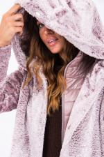 Fake-Fur Jacke in Flieder