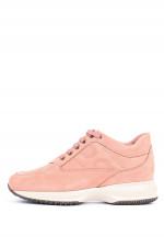 Nubuk-Sneaker INTERACTIVE in Rosa