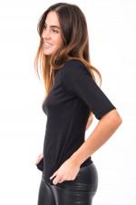 Shirt mit Schimmereffekt in Schwarz