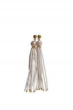 Ohrstecker LILY mit Perlenketten in Weiß/Gold