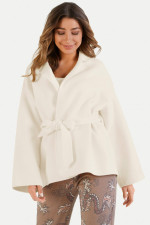 Oversized Jacke aus Wollmix in Creme