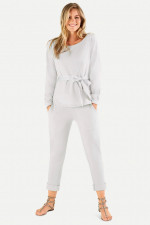 Relaxed Fit Sweatpants in Hellgrau