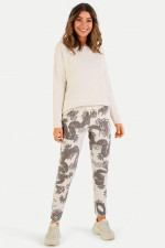 Sweatpants im Dragon-Design in Creme