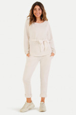 Relaxed Fit Sweatpants in Creme