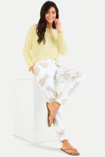 Slim Fit Sweatpants mit Ananas-Print in Weiß