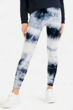 Leggings im Batik-Design in Navy