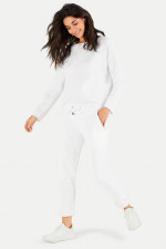 Relaxed-Fit Sweatpants in Weiß