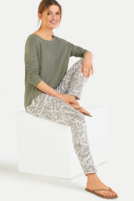 Sweatpants im Jungle-Design in Grau/Khaki