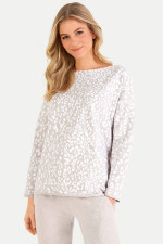 Relaxed Fit Sweater im Leo-Design