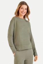 Relaxed-Fit Sweatshirt in Khaki
