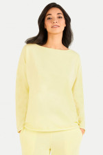 Relaxed Fit Sweater in Pastellgelb