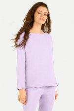 Relaxed-Fit Sweater in Flieder