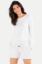 Jersey-Shorts in Weiß