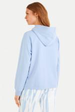 Sweater mit Kapuze in Hellblau