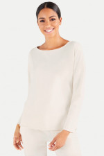 Relaxed-Fit Sweater in Creme