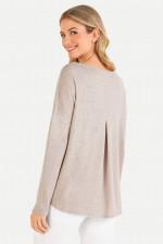 Cashmix-Sweater in Beige meliert