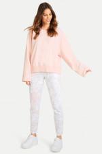 Leicht verkürzter Sweater in Apricot