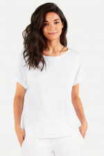 Boxy-Fit T-Shirt in Weiß