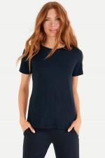 T-Shirt aus Baumwoll-Viskose-Mix in Navy